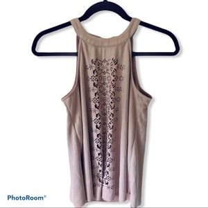 Altar'd State Pink Geometric Cut Out Tank Top S